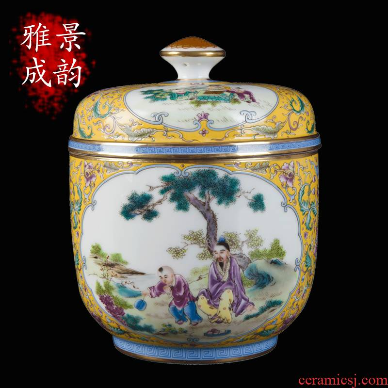 Jingdezhen ceramic checking sugar daddy figure vase wine accessories furnishing articles household porcelain decoration process