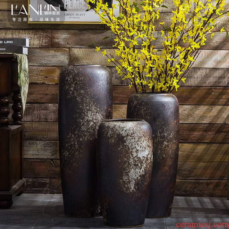 Retro nostalgia vase American Chinese craftsmen boreal Europe style of large vases, sitting room adornment is placed ceramic pot