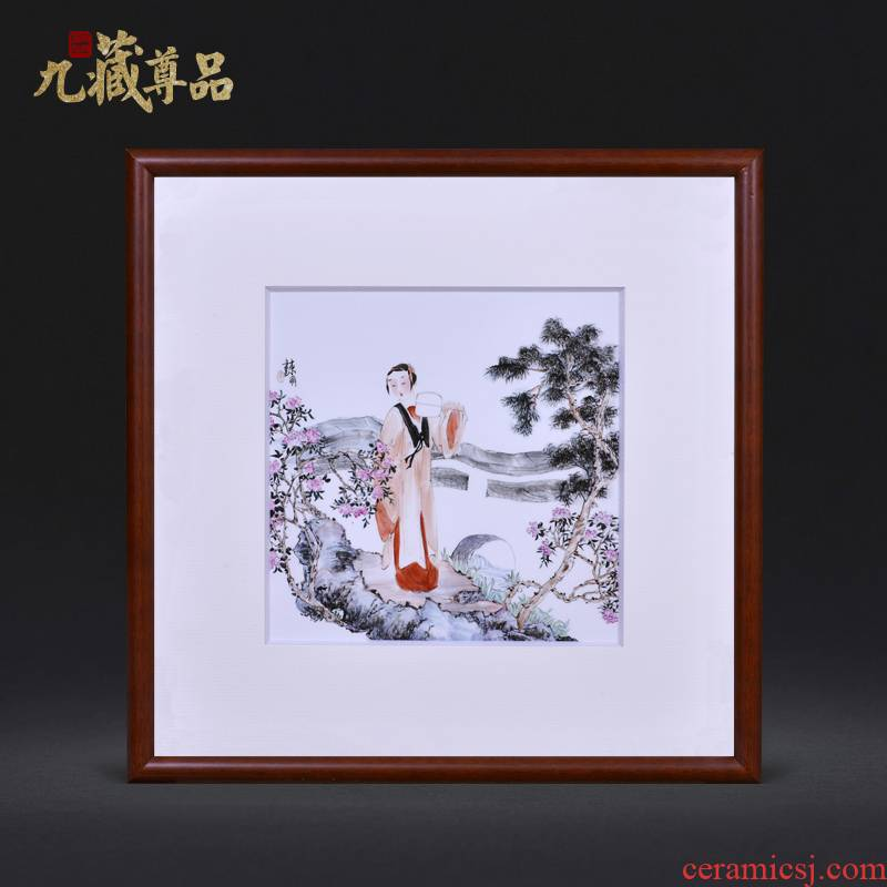 Jingdezhen ceramics dong - Ming li hand draw an adornment porcelain plate paintings of Chinese style household crafts