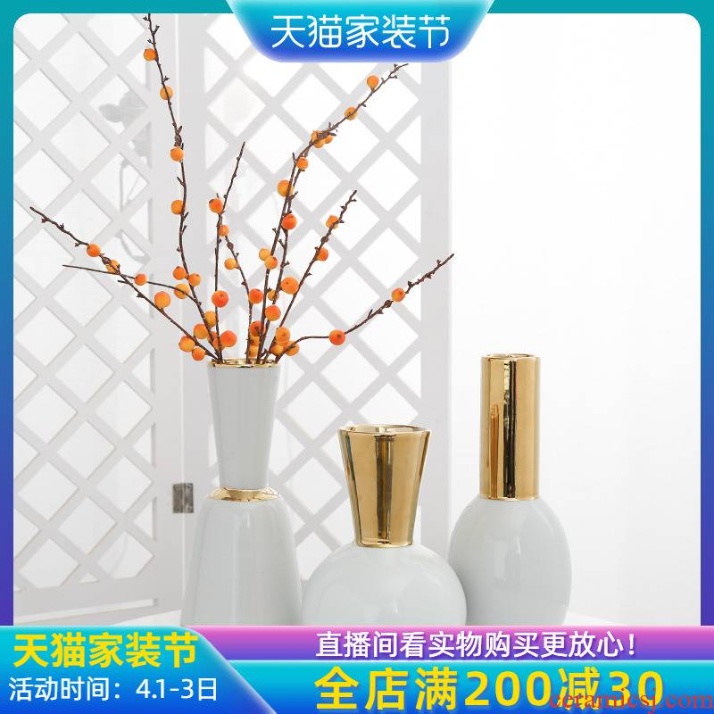 Jingdezhen ceramic creative furnishing articles vase sitting room porch table household adornment ornament simulation flower arranging flowers