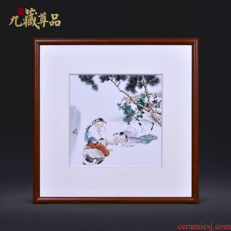 Jingdezhen ceramics dong - Ming li hand - made tong qu figure Chinese style household crafts decoration porcelain plate painting