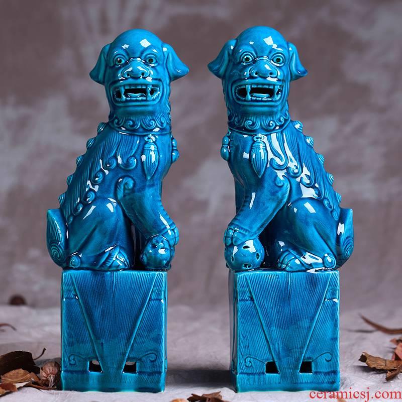 Home decoration porcelain of jingdezhen ceramics lion furnishing articles its porcelain decoration creative gifts crafts
