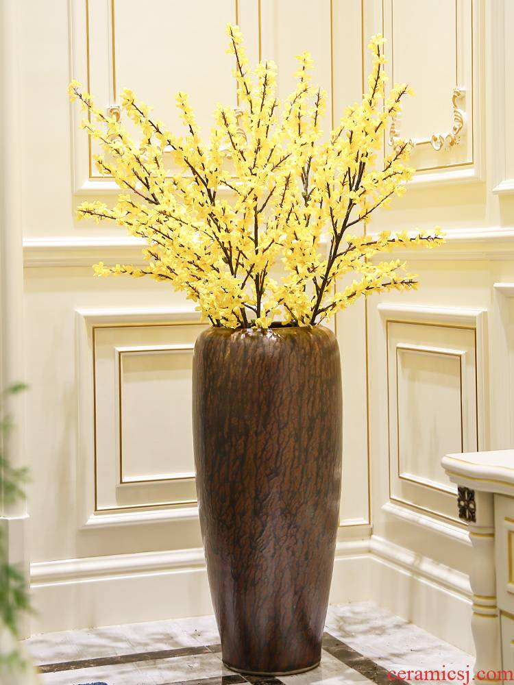 Modern ceramic vase of large sitting room place flower arranging dried flowers, new Chinese style household decoration ou porch is decorated