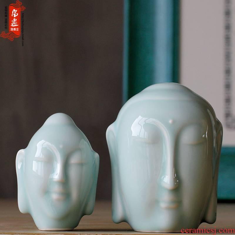 Shadow enjoy | jingdezhen ceramic checking ceramic Buddha zen tea room first furnishing articles furnishing articles tea pet home decoration process J