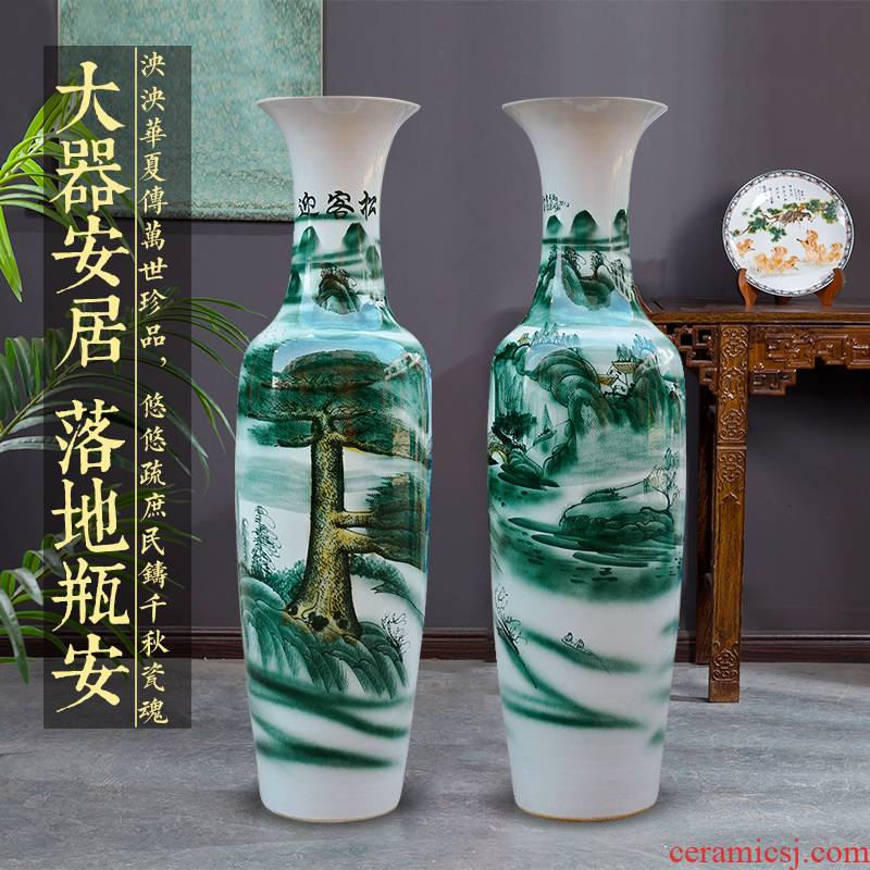 Jingdezhen ceramics of large vases, antique Chinese style hotel lobby decoration guest - the greeting pine furnishing articles large living room