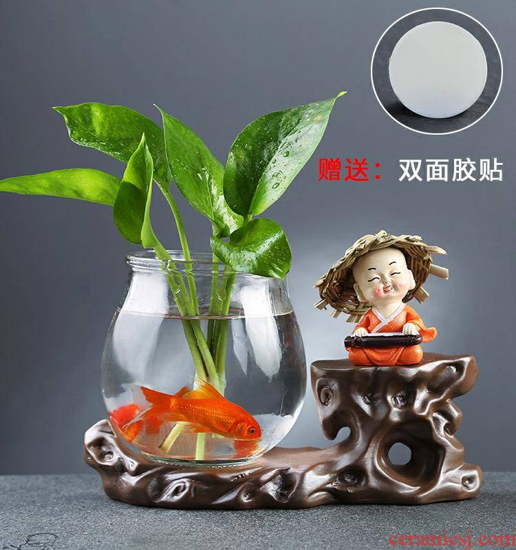 Creative furnishing articles monk sitting room hydroponic glass flower implement other household act the role ofing is tasted tea flower vases, pottery