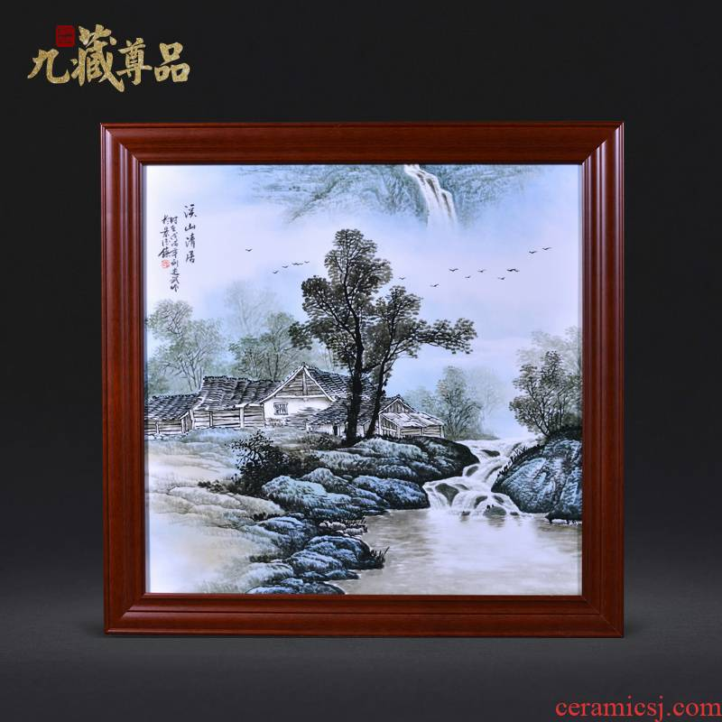Jingdezhen ceramics Liu Shuwu hand - made khe sanh the qing reside adornment porcelain plate paintings of Chinese style household crafts
