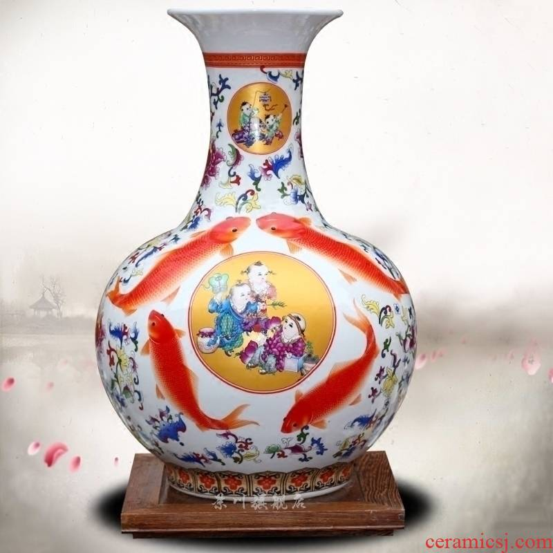 Jingdezhen ceramic lad figure dry flower vase of modern home living room a study office mesa place adorn article