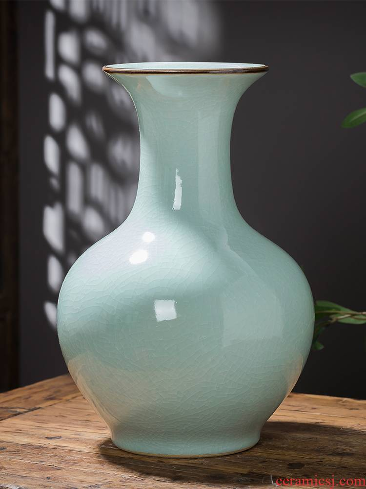 Jingdezhen ceramics antique vase furnishing articles of Chinese style restoring ancient ways is contracted sitting room home TV ark adornment arranging flowers
