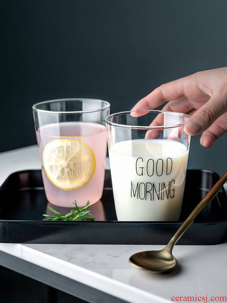 Porcelain color beauty ins glass cup creative breakfast cup transparent glass of juice ultimately responds a cup of milk a cup of tea cups