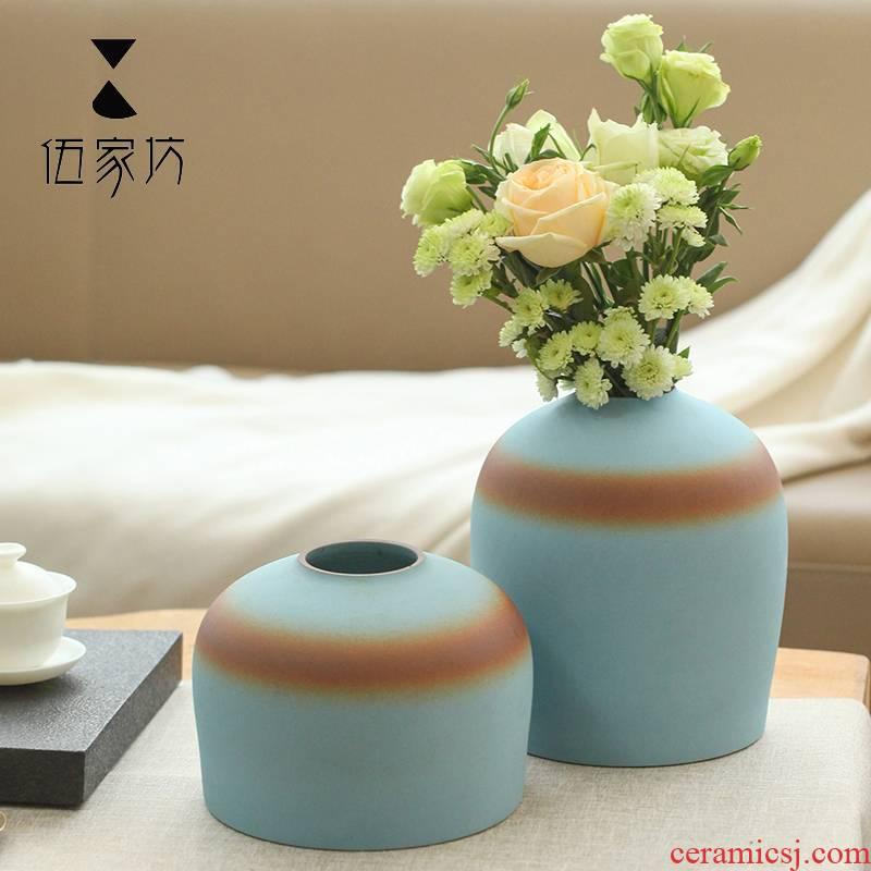 The Wu family fang sky vases, ceramic flower implement decoration interior decoration vase vase mesa hotel furnishing articles
