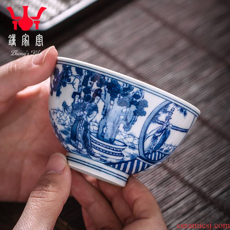 Clock home trade, one cup of jingdezhen ceramic tea cup, master cup single CPU hand - made porcelain firewood west chamber cup