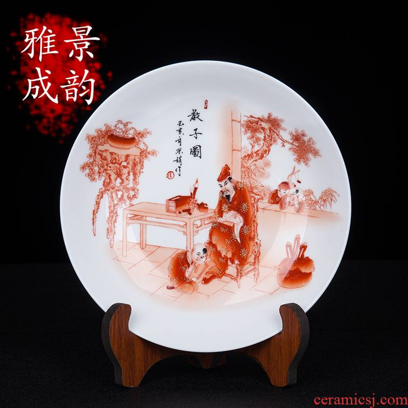 Jingdezhen ceramic I and contracted hand - made godson figure porcelain decoration place to live in the sitting room porch porcelain