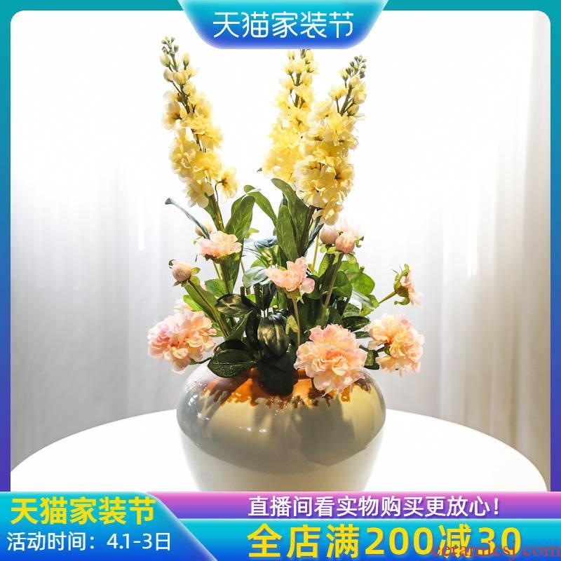 Jingdezhen rural mesa simulation flower vase floral decoration desktop machine sitting room furniture furnishing articles table flower flower