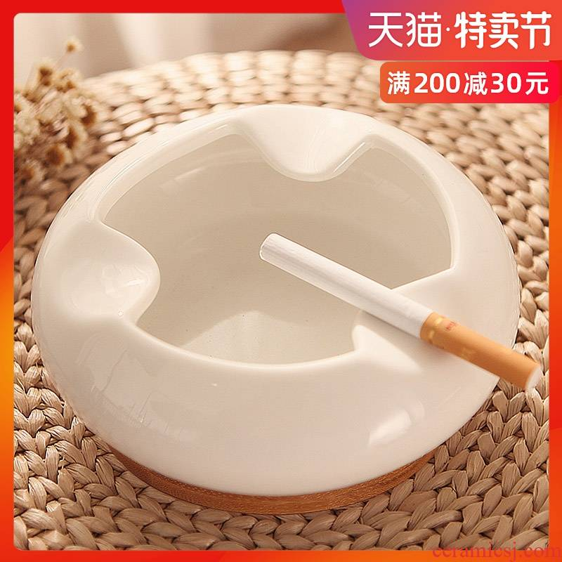Fashionable ashtray creative move ceramic ashtray decoration to the hotel dining room sitting room desktop stainless steel ashtray