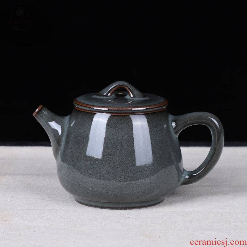Get together scene scene celadon ceramic teapot single pot kung fu tea teapot big manual filtering tire iron pot of household
