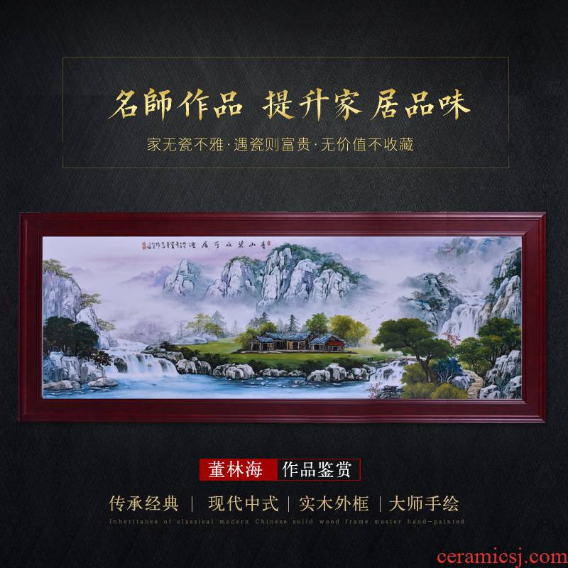 Jingdezhen ceramic hand - made porcelain plate painting mural paintings of Chinese style household adornment sitting room sofa background wall furnishing articles