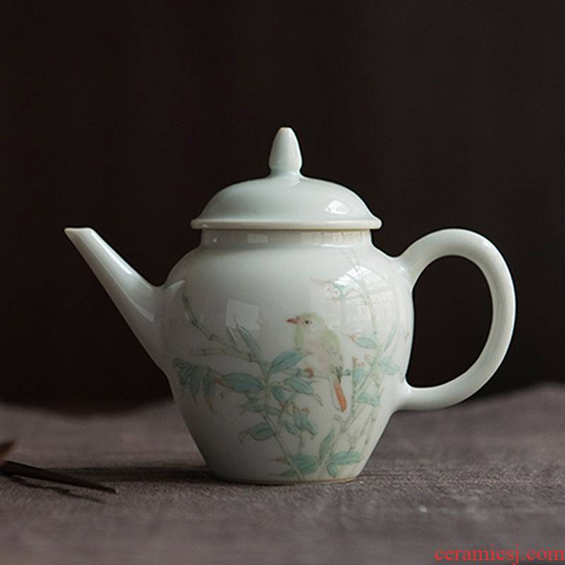 Get in jingdezhen ceramic teapot suit kung fu tea set the it home little teapot in use by hand
