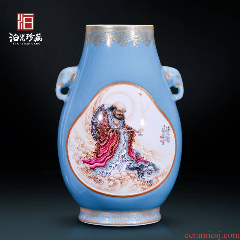 High - quality goods of jingdezhen ceramics hui - Ming wu master hand draw the characters of new Chinese style household decoration vase furnishing articles