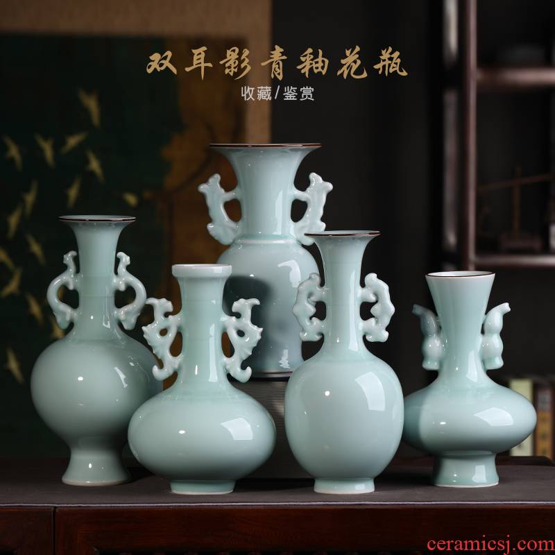 Jingdezhen ceramics floret bottle place flower arranging archaize sitting room of Chinese style household treasure cabinet decorative arts and crafts
