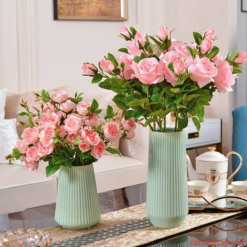 Contracted and I creative furnishing articles Nordic desktop ceramic vases, flower arrangement, household living room table decoration decoration
