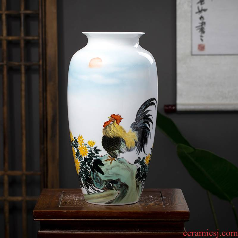 The Master of jingdezhen ceramics hand - made vases, flower arrangement sitting room of Chinese style household adornment handicraft furnishing articles TV ark