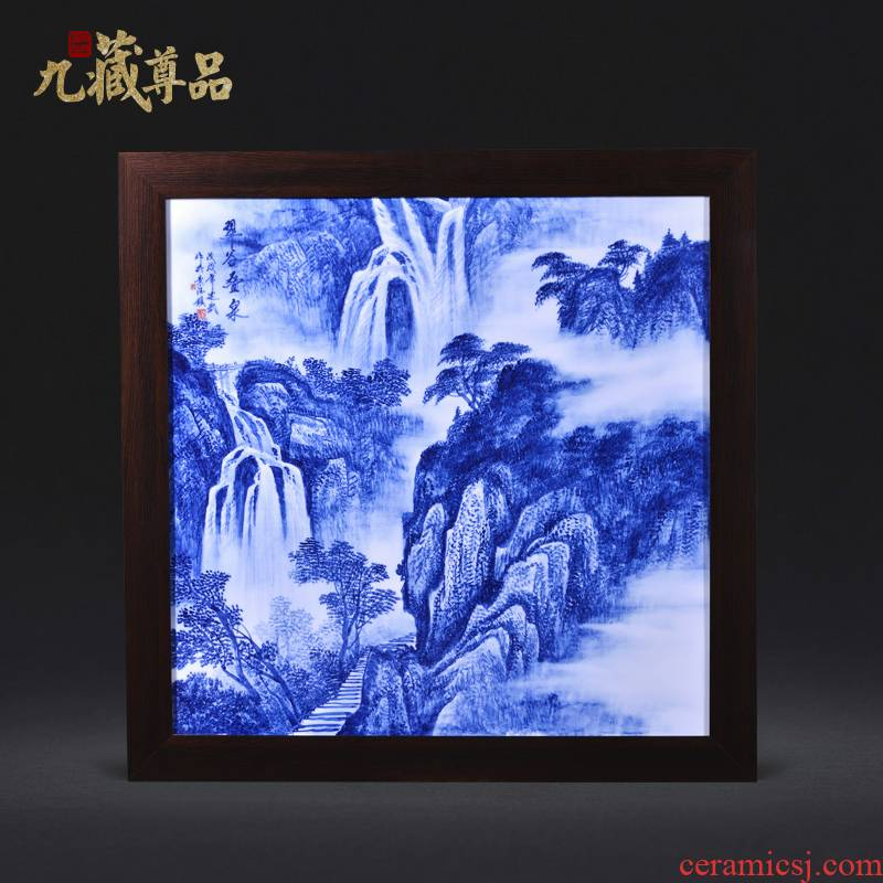 Jingdezhen ceramics Liu Shuwu hand - made CuiGu fold springs adornment porcelain plate paintings of Chinese style household crafts