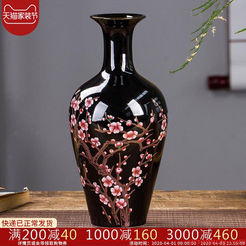 Sharply jingdezhen ceramics glaze floret bottle of Chinese flower arrangement sitting room home rich ancient frame decoration handicraft furnishing articles