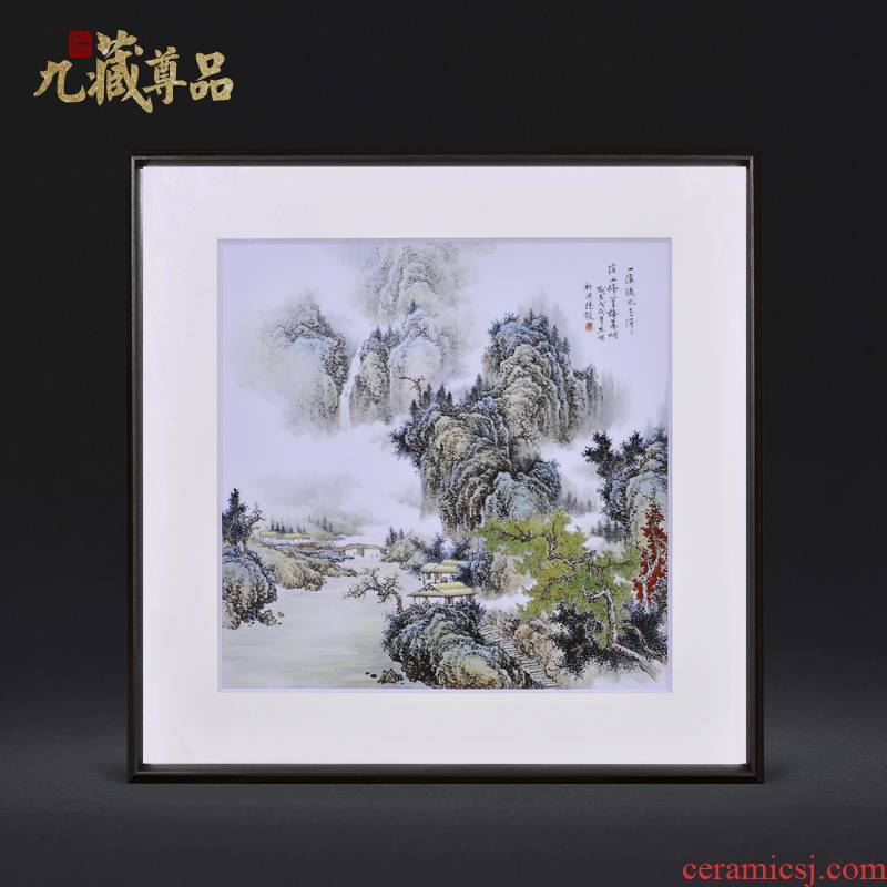 Jingdezhen ceramic dong - Ming li masters hand draw water trickling figure adornment porcelain plate paintings of Chinese style household decoration