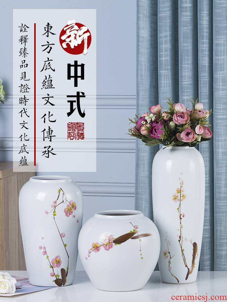 Jingdezhen ceramic vases, I and contracted the new Chinese style flower adornment of the sitting room porch of TV ark, wine furnishing articles