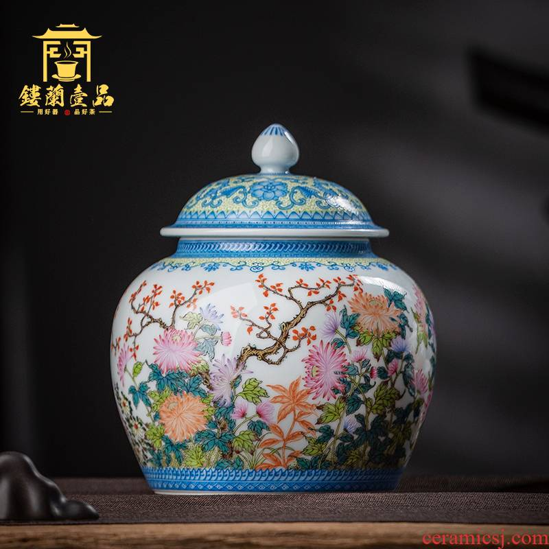 Jingdezhen all hand - made pastel full by seal bigger sizes sealed ceramic tea loose tea caddy fixings storage storehouse and POTS