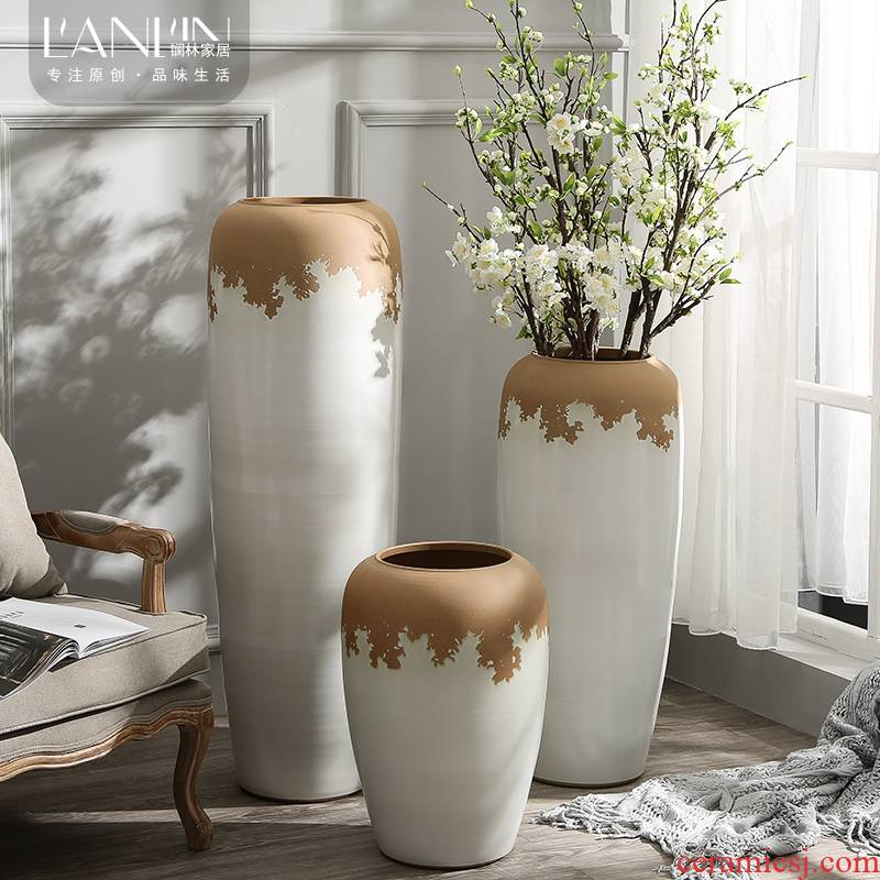 Large vases, I and contracted sitting room to heavy flower arranging flower implement coarse some ceramic pot home decoration ceramic furnishing articles