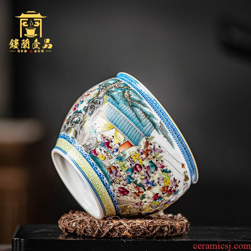 Jingdezhen ceramics hand - made pastel the ancient philosophers figure master cup large tea cup with personal single CPU name cup