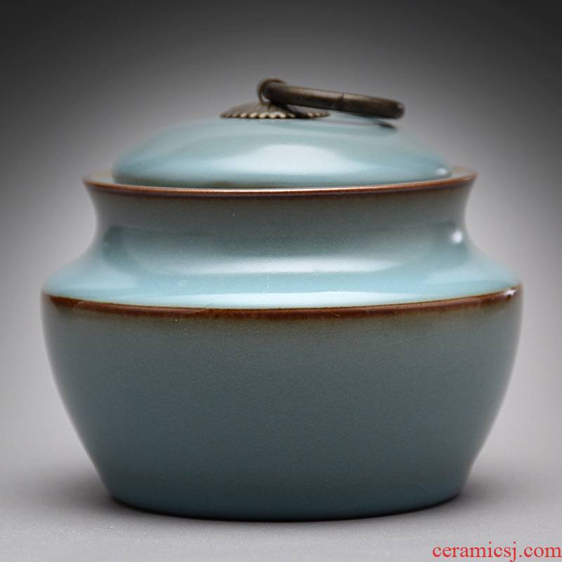 Mingyuan FengTang 2008 old thing your up caddy fixings canister deposit box sealed as cans ceramic kung fu tea tea set