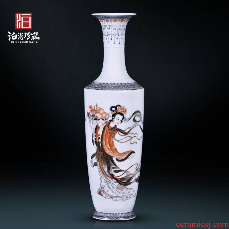 Jingdezhen ceramic hand - made color ink mago offer life decoration new sitting room of Chinese style household vase collection furnishing articles