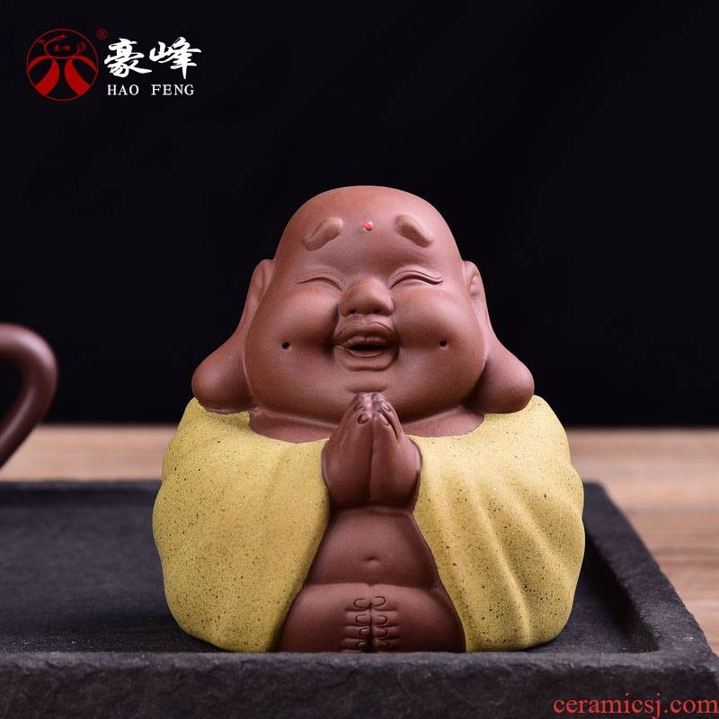 Shadow enjoy creative purple sand tea pet Buddha tea play home furnishing articles kung fu tea tea tray accessories violet arenaceous prayers for HF