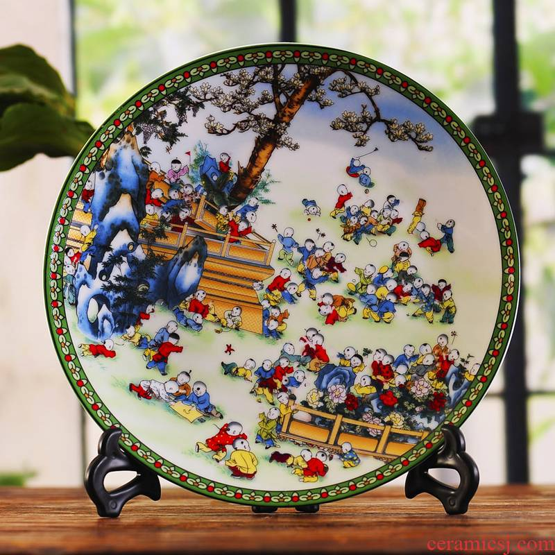 Jingdezhen ceramics decoration plate hanging dish figure porch rich ancient frame handicraft decorative furnishing articles ye05 the ancient philosophers