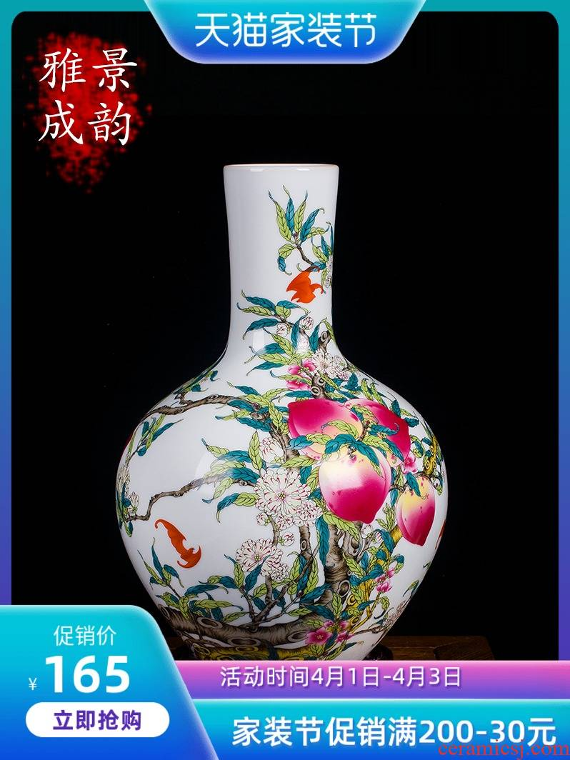Jingdezhen porcelain ceramic new Chinese blue and white porcelain vase sitting room adornment is placed archaize porcelain arts and crafts