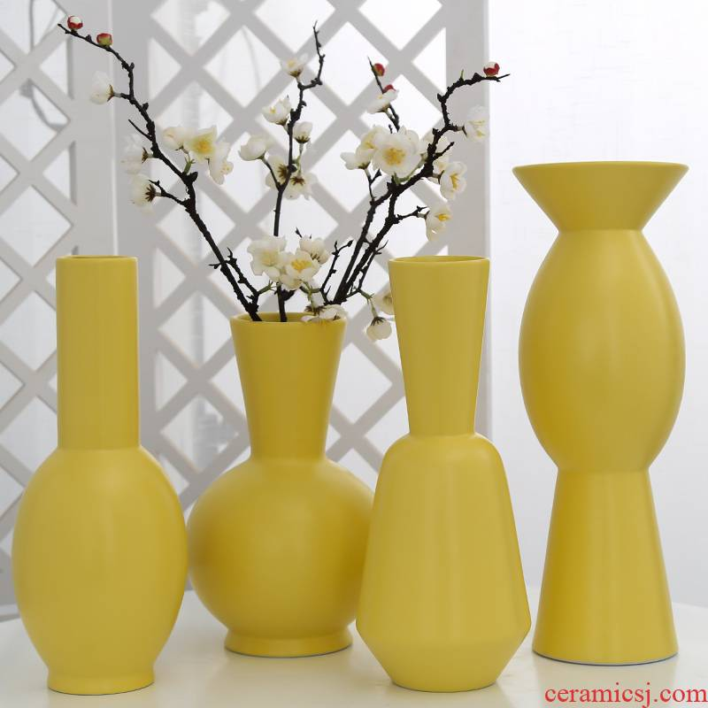 Jingdezhen ceramic vases, flower arrangement sitting room porch contracted household decorative furnishing articles table decoration simulation artificial flowers