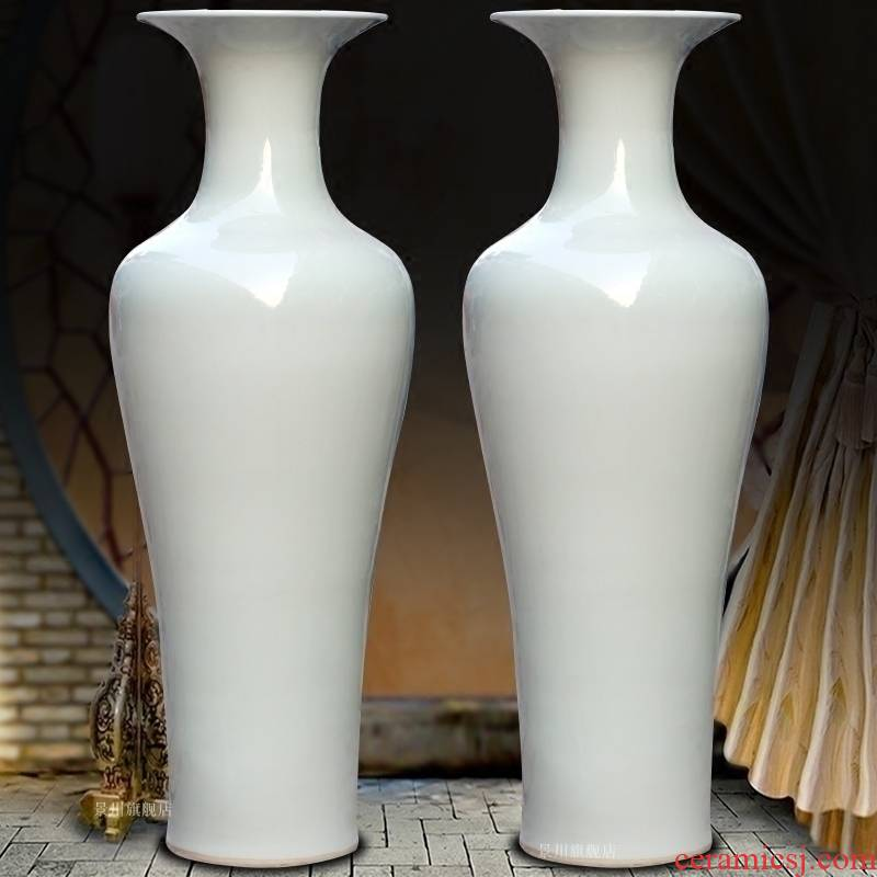 Goddess of mercy bottle of pure white lotus seed bottle vase of porcelain of jingdezhen ceramic landing big vase sitting room big furnishing articles