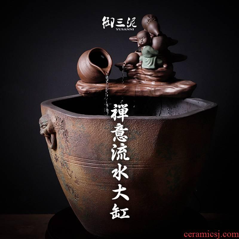Courtyard tank little monks feng shui cornucopia pool of jingdezhen ceramic goldfish bowl zen water furnishing articles fortune