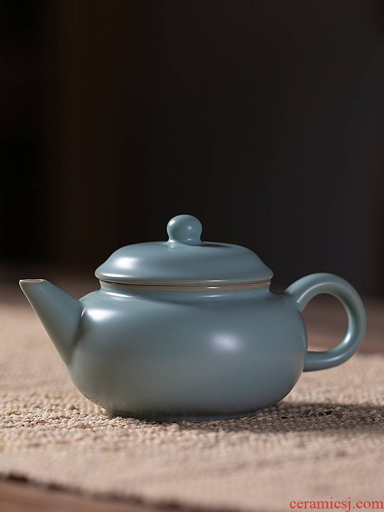 Jiangnan shamrock archaize past 1 your up ceramic teapot tea kungfu tea set your porcelain little teapot single pot