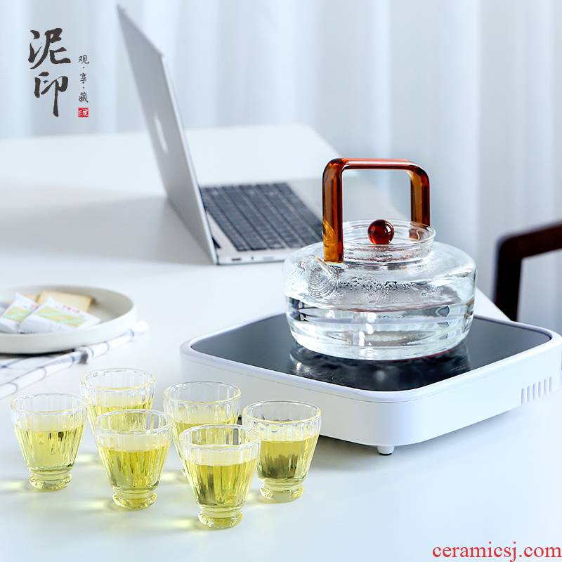 Boiling tea ware suit household glass teapot mud seal black tea automatic Boiling tea stove small electric TaoLu kettle