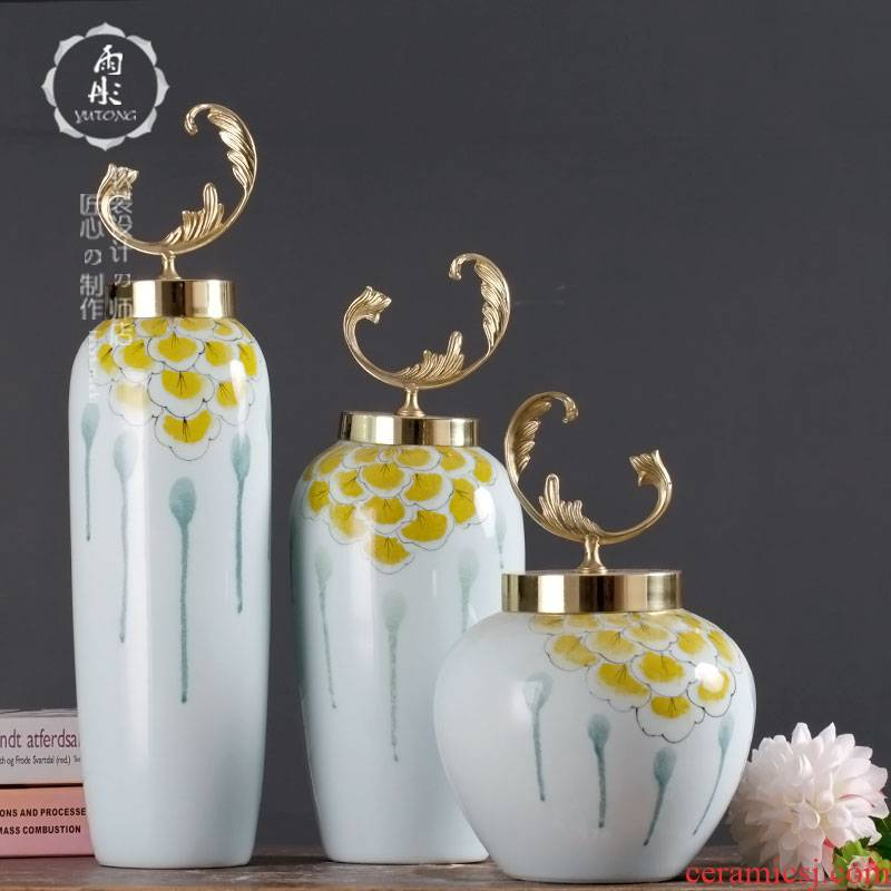 Rain tong fashionable modern new Chinese style household ceramic vase model between TV ark, home furnishing articles furnishing articles
