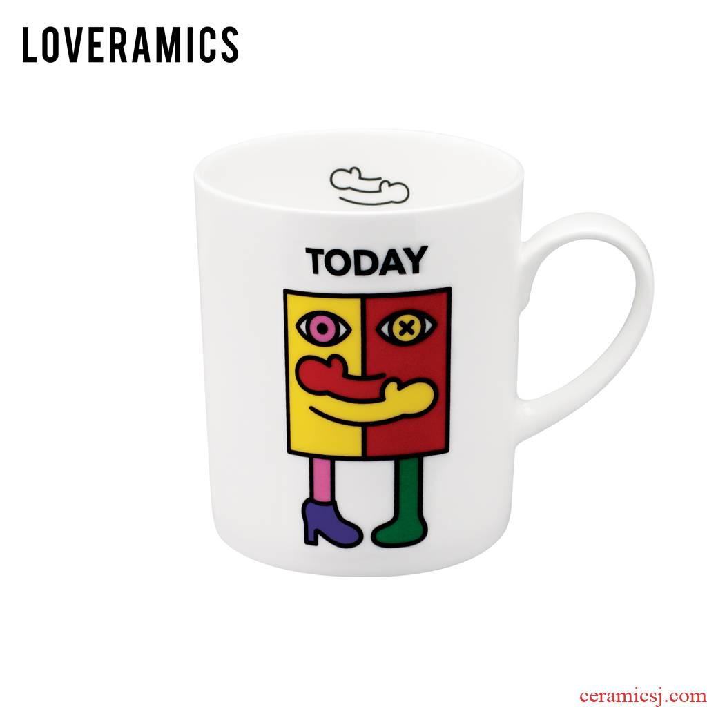 Loveramics love June I love mark cup three 380 ml ipads porcelain cup of milk tea cup cup H & T