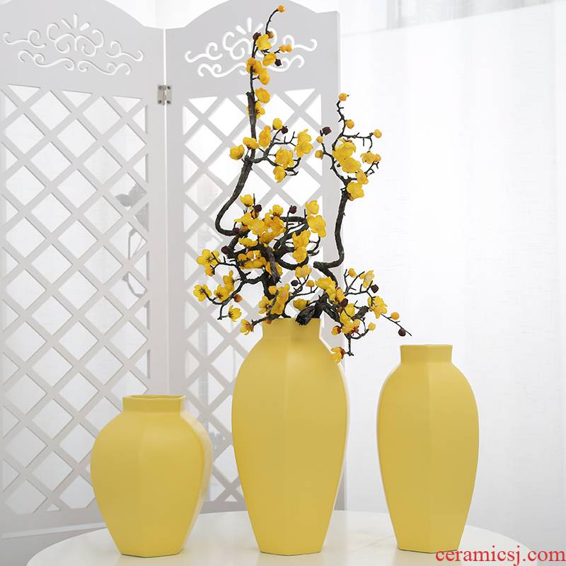 Ceramic vase mesa simulation artificial flowers flower arrangement home sitting room adornment office furnishing articles table decoration ideas
