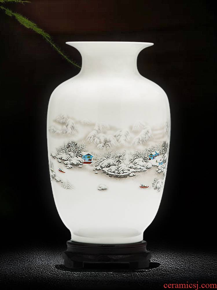 Jingdezhen porcelain floret bottle dry flower adornment furnishing articles sitting room flower arranging Chinese style household ceramics handicraft bottles