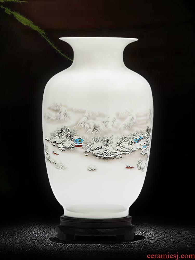 Jingdezhen porcelain floret bottle dry flower adornment furnishing articles sitting room flower arranging Chinese style household ceramics handicraft bottles