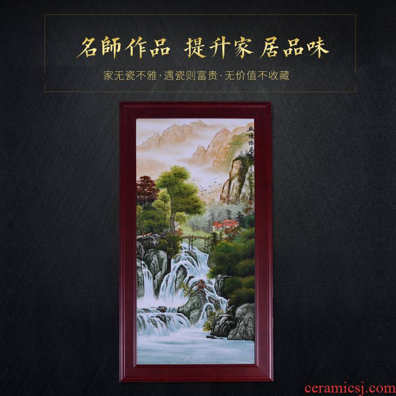 The Master of jingdezhen ceramic decoration hand - made mural paintings of Chinese style porch sitting room hotel porcelain plate painting furnishing articles