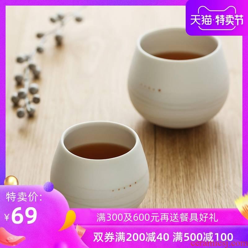 "Japanese tea masters cup single cups of black glass imported creative household ceramics glass sample tea cup ""daruma"" cup"